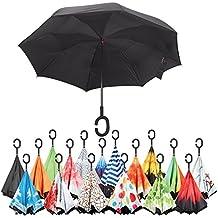Sharpty Inverted Umbrella, Umbrella Windproof, Reverse Umbrella, Umbrellas for Women with UV Protection, Upside Down Umbrella With C-Shaped Handle