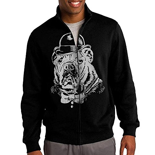 Sale For Costume Nightcrawler (Men's Gentleman Bulldog Solid Stand Collar Zipper Jacket Size)