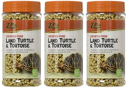 (3 Pack) Zilla Land Turtle And Tortoise Fortified Food, 6.5-Ounce Containers