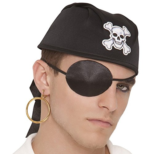 [Amscan Notorious Pirate Party Silk Eye Patch Accessory, One Size, Black] (Pirate Clothing And Accessories)