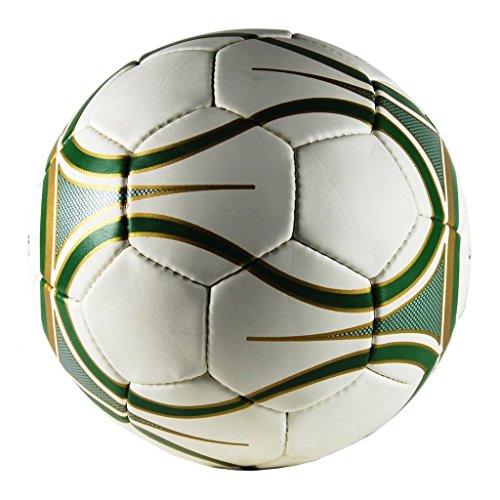 Uber Soccer Regulation Size and Weight Indoor Futsal Soccer Ball - Green Gold Matte Finish - Size 4