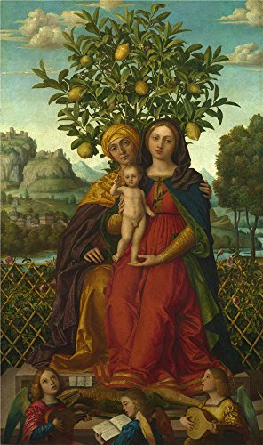 Oil Painting 'Gerolamo Dai Libri - The Virgin And Child With Saint Anne,1510-18' 20 x 34 inch / 51 x 86 cm , on High Definition HD canvas prints is (Tenth Doctor Costume Cheap)
