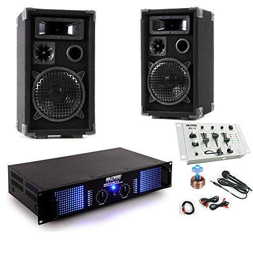 PA Party Musikanlage Boxen 2400W Verstärker Endstufe Mischpult DJ-631