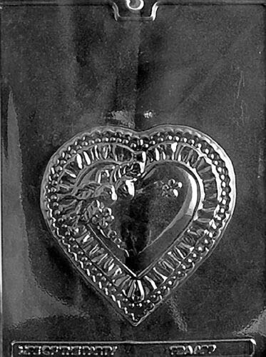 Fancy Heart Plaque V130 Mold Chocolate Candy soap Making Valentine,- Limits