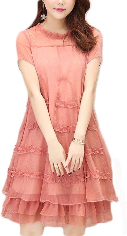 Vestido, Falda de Gasa con Tapa Suelta Falda de Vientre 2 Colores ...