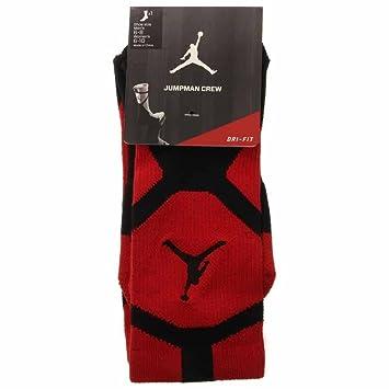Nike Jordan Jumpman Drifit Crew - Calcetines línea Michael Jordan Unisex, Color Rojo/Negro, Talla XL: Amazon.es: Zapatos y complementos