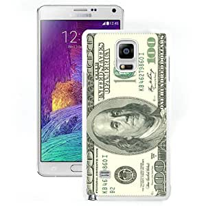 Beautiful And Unique Designed Case For Samsung Galaxy Note 4 N910A N910T N910P N910V N910R4 With One Hundred Dollar Bill White Phone Case