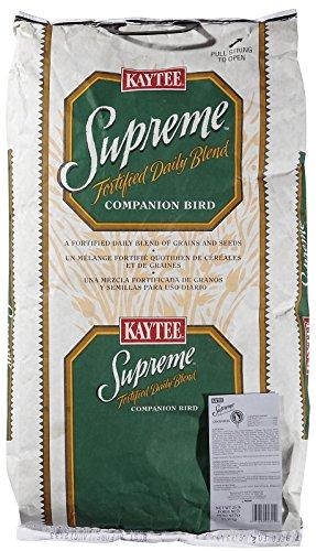 Kaytee Supreme Bird Food for Cockatiels, 25-lb (Seed 25 Lb Bag)