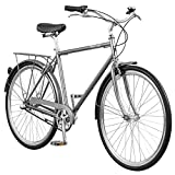 Pure City Classic Diamond Frame 8-Speed Bicycle, 58cm/Large, Bourbon Matte Black