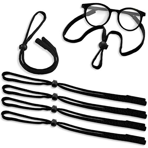 Kalevel 6pcs Sunglass Straps for Kids Men Women Sports Glasses Holder Strap Adjustable Eyewear Retainer Eyeglass Lanyard Cord Nylon Black from Kalevel