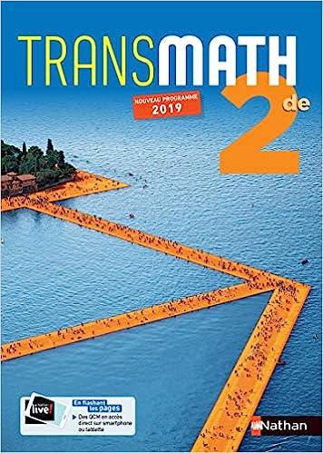 Transmath 2de Manuel 2019 Transmath Second Cycle French Edition Collectif 9782091726366 Amazon Com Books