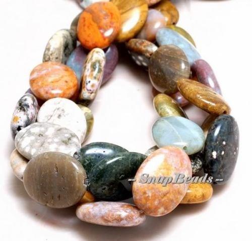 - Passionate Ocean Jasper Gemstone Oval Loose Beads 15.5'',