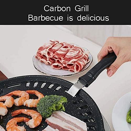 JNWEIYU Facile à Transporter Smokeless Barbecue au Charbon, extérieur Plaque de Fer intérieur Grill Commercial Pan, antiadhésive