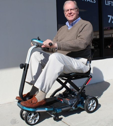 Best Review Of Transport Foldable Travel Senior Mobility Scooter with Lithium Batteries