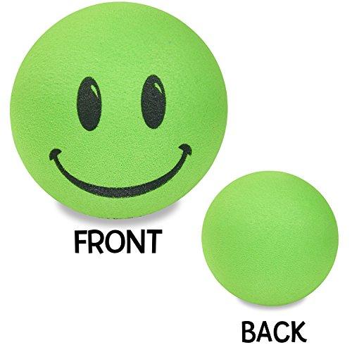 Tenna Tops Happy Green Smiley Face Car Antenna Topper/Antenna Ball/Rear View Mirror Dangler/Auto - Topper Alien Antenna
