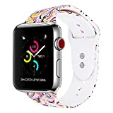 VODKE for Apple Watch Bands, Soft Silicone Strap Replacement iWatch Wristbands for Apple Watch Sport Series 3 Series 2 Series 1 38mm 42mm S/M M/L
