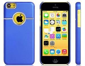 Sólida caja de plástico de color para el iPhone 5C (azul)