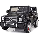 """Ricco LS528 """"Black Licensed Mercedes-Benz G65 Kids Ride on Powered Wheels"""" Car with Remote Control"""