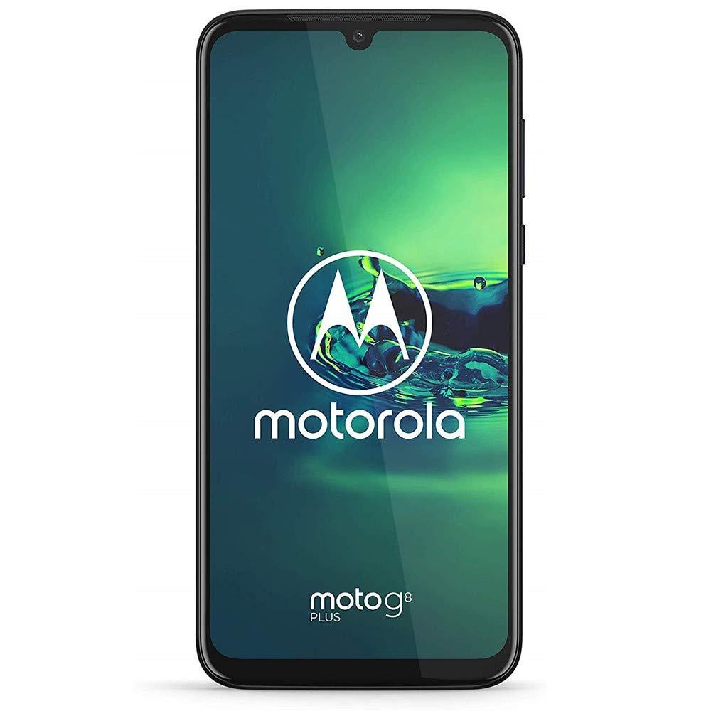 "Motorola Moto G8+ Plus (64GB, 4GB) 6.3"", Snapdragon 665, 48 MP Camera, 4000mAh Battery, Dual SIM GSM Unlocked (at&T/T-Mobile/MetroPCS/Cricket/H2O) XT2019-2 - International Version (Blue, 64 GB)"