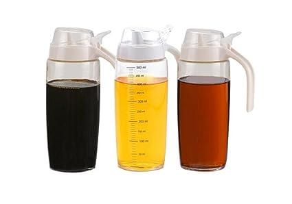HCJTLP FJXLZ® Botella de Aceite y vinagre, sin Plomo Sello de Vidrio Spice Jar