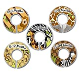CLOSET DIVIDERS Animal Jungle Print SIZE LABELS Bedroom and Baby Nursery Art Decor CD0031