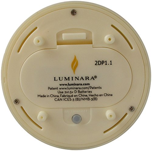 Luminara Outdoor Flameless Candle: Plastic Finish, Unscented Moving Flame Candle with Timer (9'' Ivory) by Luminara (Image #5)