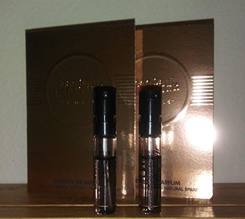 Jean Paul Gaultier Le Male Essence De Parfum Sample-Vials For Men, 0.02 oz EDP Intense -Lot Of 2- -Name Brand Sample-Vials Included-