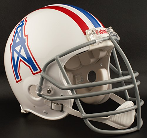 Riddell Houston Oilers 1975-1980 NFL Authentic Throwback Football Helmet w/NJOP Facemask