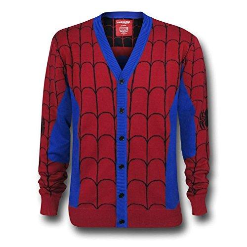Spiderman Men's Cardigan- Medium