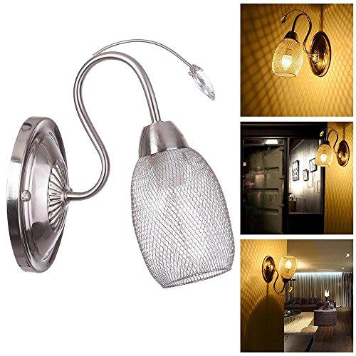 Yescom Vintage Wall Mounted Sconce Chandelier Crystal Modern Mesh Pendant Lamp Light Fixture