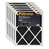 Filtrete Allergen Defense Odor Reduction AC Furnace Air Filter, Captures Small Particles like Pollen & Pet Dander, MPR 1200, 14 x 30 x 1, 6-Pack