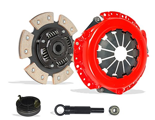 Clutch Kit Set Works With Hyundai Accent Kia Rio Base Lx Sx Gls Gs Se Hatchback Sedan 2006-2011 1.6L l4 GAS DOHC Naturally Aspirated (6-Puck Disc Stage 3) ()