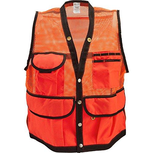 Pocket Cruiser - JIM-GEM 8-Pocket Nylon Mesh Cruiser Vest Orange X-Large
