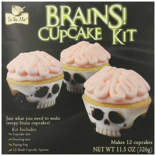 In the Mix Cupcake Kit, Brains, 11.5 (Cake Mix Halloween)