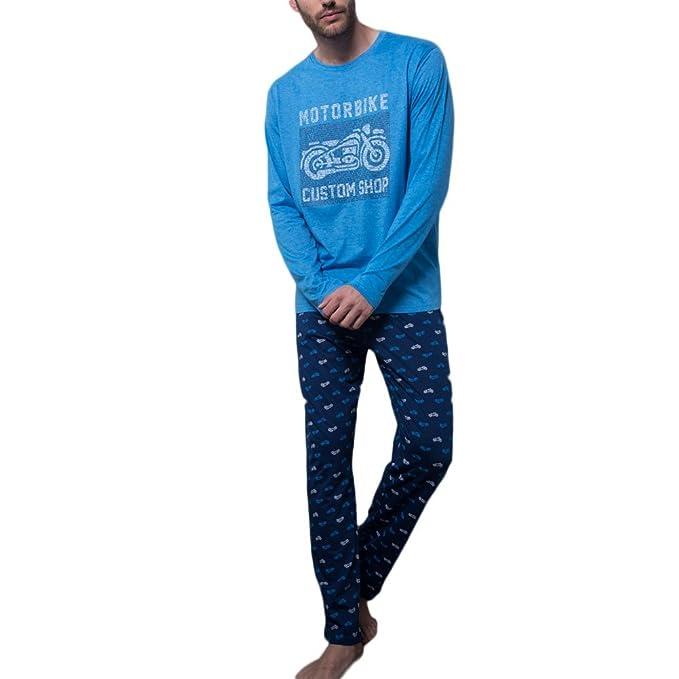 ADMAS - Pijama Hombre Hombre Color: Azul Talla: S