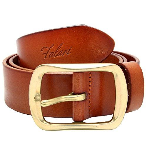 (Falari Men's Leather Belt 38mm Light Brown 34-36 9002-LBN-M)