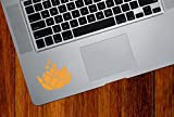 Lotus Flower w Bubbles - D2 - Vinyl Decal Sticker for Trackpad | Tablet | iPad | Computer - (2.5