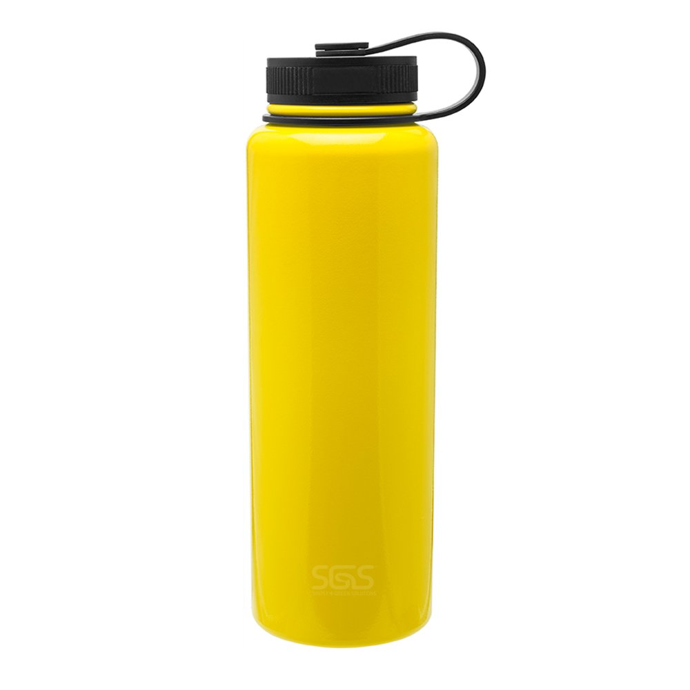 40oz Capacity Copper Lined Vacuum Insulated Double Wall Stainless Steel Thermal Travel Bottle Matte Black Simply Green Solutions