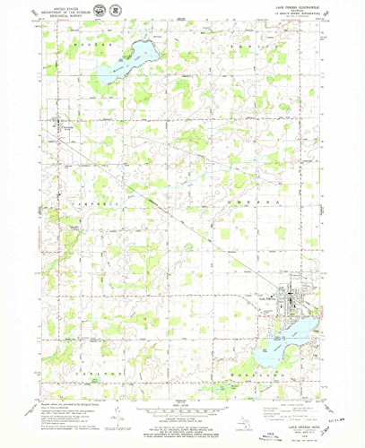 Lake Odessa MI topo map, 1:24000 scale, 7.5 X 7.5 Minute, Historical, 1978, updated 1979, 26.9 x 21.9 IN - ()