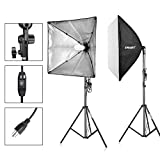 Emart 900W Output Softbox Photography Lighting Kit Photo Video Continuous Lighting Studio for Portraits Shooting Softbox 24'' x 24''