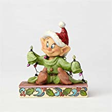 Enesco Jim Shore Disney Traditions by Dopey With Christmas Lights Figurine