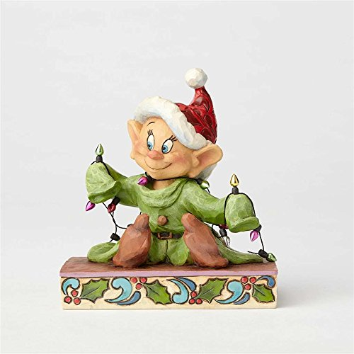 (Enesco Jim Shore Disney Traditions Dopey with Christmas Lights Figurine)