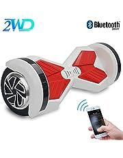 """2WD Hoverboard 8'' ElektroScooter Rad-selbstausgleichender Roller Zwei mit Bluetooth und. LED-Licht-elektrischem Roller 8""""- UL bestätigte 2 * 350W (schwarz-rot)"""