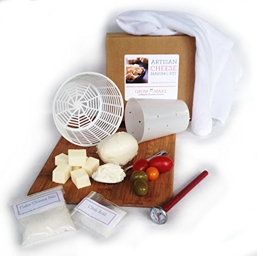 Cheddar Cheese Making - Artisan DIY Cheese Making Kit - Learn how to make home made cheeses make mozzarella, ricotta, chèvre, paneer, and queso blanco