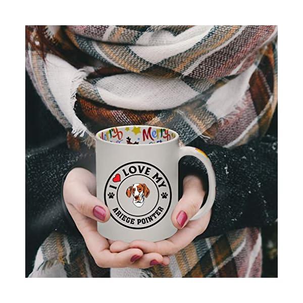 Ceramic Christmas Coffee Mug I Love My Ariege Pointer Dog Style A Funny Tea Cup 4