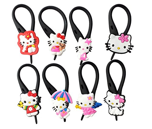 AVIRGO 8 pcs Soft Zipper Pull Charms for
