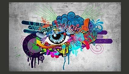 Fotomurale /ï/¾ Graffiti 10110905-10 Quadri murali XXL Hit Carta da parati sulla fliselina Fotomurali 100x70 cm Carta da parati in TNT