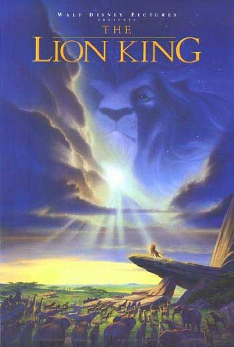 LiOn kiNg OrIgInAl MoVie Poster DoUblE SiDeD