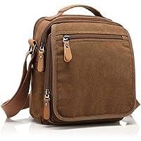 Goatter Unisex Brown Soft Canvas Material Unisex Multi-Compartment Messenger Bag/Shoulder Bag/Sling Bag
