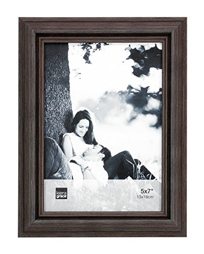 kiera grace nolan picture frame 5 by 7 inch grey driftwood